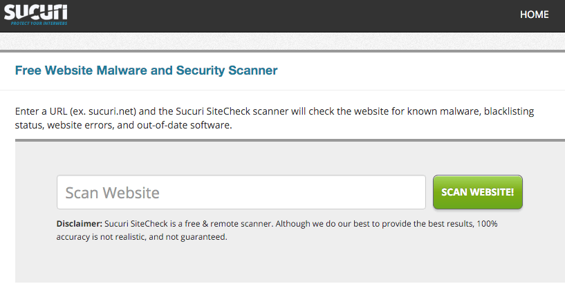 free church website security scan sucuri