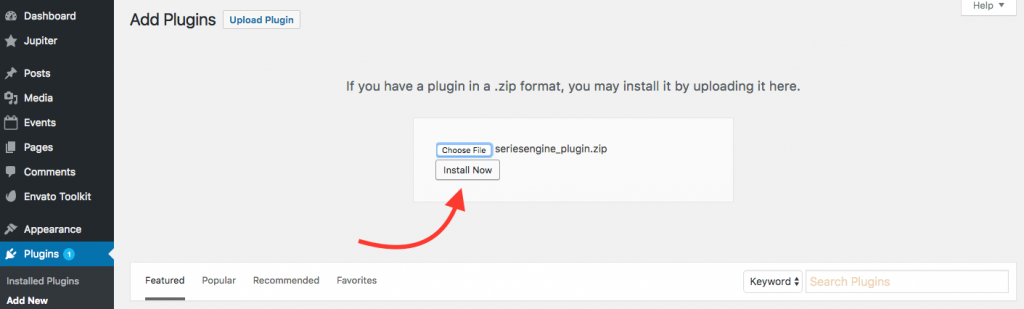 Install Now Series Engine Plugin